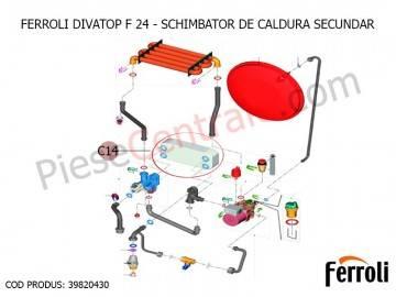 Poza Schimbator de caldura secundar ACM centrala termica Ferroli Divatop F 24