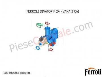 Poza Vana cu 3 cai centrala termica Ferroli Divatop F 24