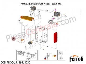 Poza Grup apa pentru centrala termica Ferroli Domicompact B