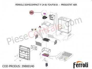 Poza Presostat aer centrale termice Ferroli Domicompact B