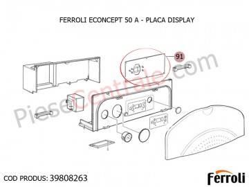 Poza Placa Display pentru centrala Ferroli Econcept 50 A