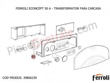 Poza Transformator fara carcasa pentru centrala Ferroli Econcept 50 A