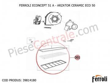 Poza Arzator ceramic ECO 50 centrala termica Ferroli Econcept