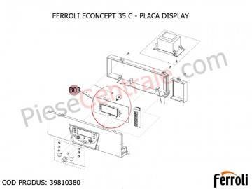 Poza Placa Display centrala termica Ferroli Econcept