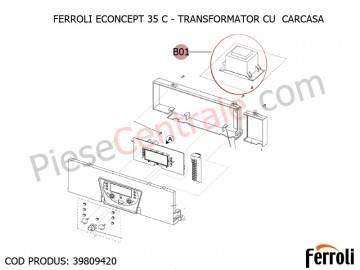 Poza Transformator cu carcasa centrala termica Ferroli Econcept