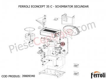 Poza Schimbator secundar centrala termica Ferroli Econcept