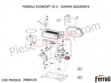 Poza Supapa siguranta centrala termica Ferroli Econcept