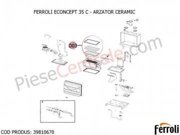 Poza Arzator ceramic centrala termica Ferroli Econcept