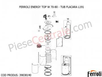 Poza Tub flacara L 191 centrale termice Ferroli Energy Top W 70-80
