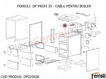 Poza Cablu pentru boiler centrala pe lemne Ferroli DP 35 Profi