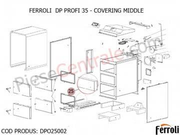 Poza Acoperire mijloc pentru centrala pe lemne Ferroli DP