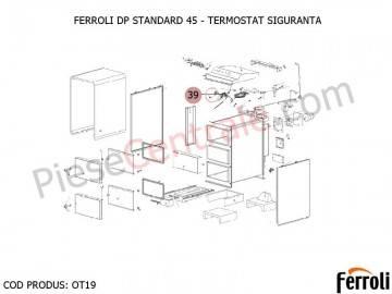Poza Termostat siguranta centrala pe lemne Ferroli DP Standard