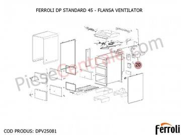 Poza Flansa ventilator centrala pe lemne Ferroli DP Standard