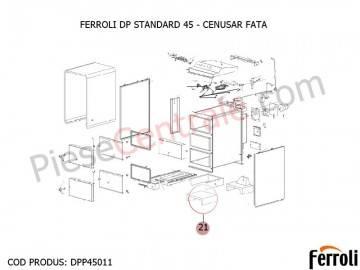 Poza Cenusar fata centrala pe lemne Ferroli DP Standard