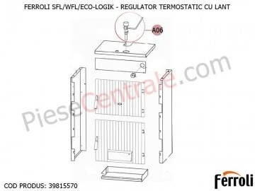 Poza Regulator termostatic cu lant pentru centrale pe lemne Ferroli SFL, WFL, ECO LOGIC, GFN