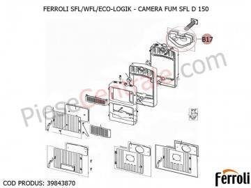 Poza Camera fum pentru centrale pe lemne Ferroli SFL, WFL, ECO LOGIC