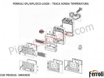 Poza Teaca sonda temperatura pentru centrale pe lemne Ferroli SFL, WFL, ECO LOGIC