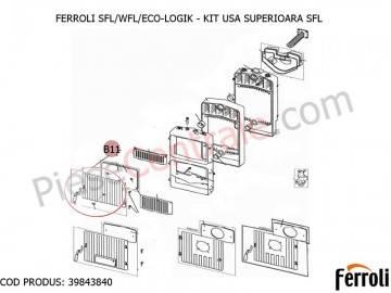 Poza Kit usa superioara centrale pe lemne Ferroli SFL, WFL, ECO LOGIC