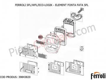 Poza  Element fonta fata centrale pe lemne Ferroli SFL, WFL, ECO LOGIC