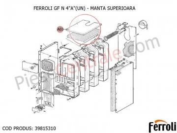 Poza Manta superioara centrala pe lemne Ferroli GF N