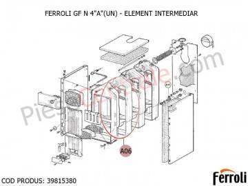Poza Element intermediar centrala pe lemne Ferroli GF N