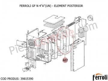 Poza Element posterior centrala pe lemne Ferroli GF N
