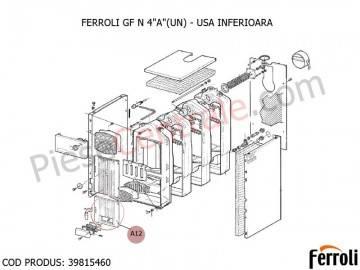 Poza Usa inferioara centrala pe lemne Ferroli GF N