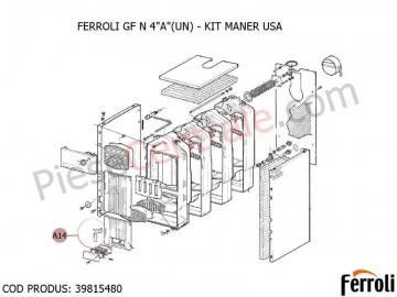 Poza Kit maner usa centrala pe lemne Ferroli GF N