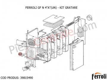Poza Kit gratare centrala pe lemne Ferroli GF N