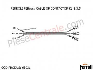 Poza CABLU CONTACTOR K1:1,3,5 centrala electrica Ferroli Febeasy 08