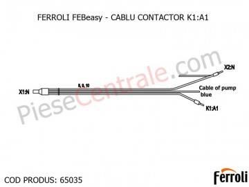 Poza CABLU CONTACTOR K1:A1 centrala electrica Ferroli Febeasy 08