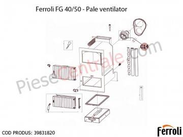 Poza Palete ventilator pentru centrala pe lemne Ferroli FG 40 si 50 kw