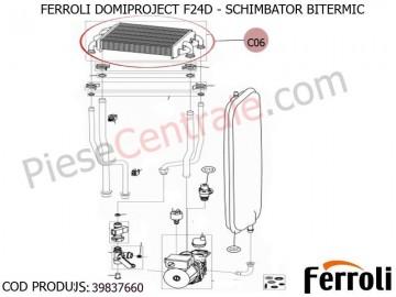 Poza Schimbator bitermic centrala termica Ferroli Domiproject F24D